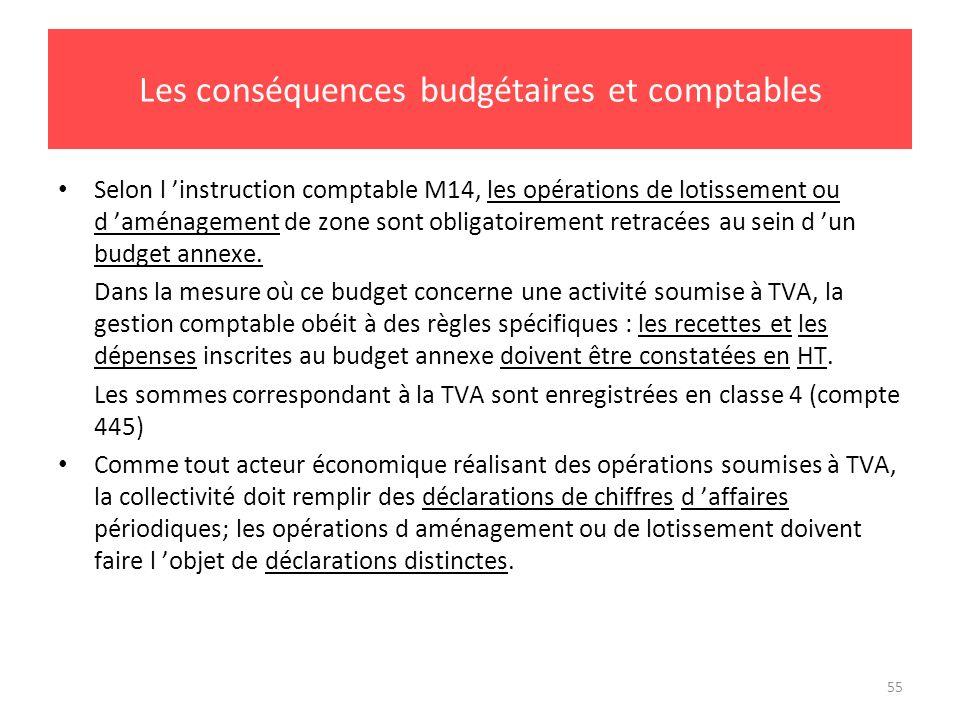 Les conséquences budgétaires et comptables