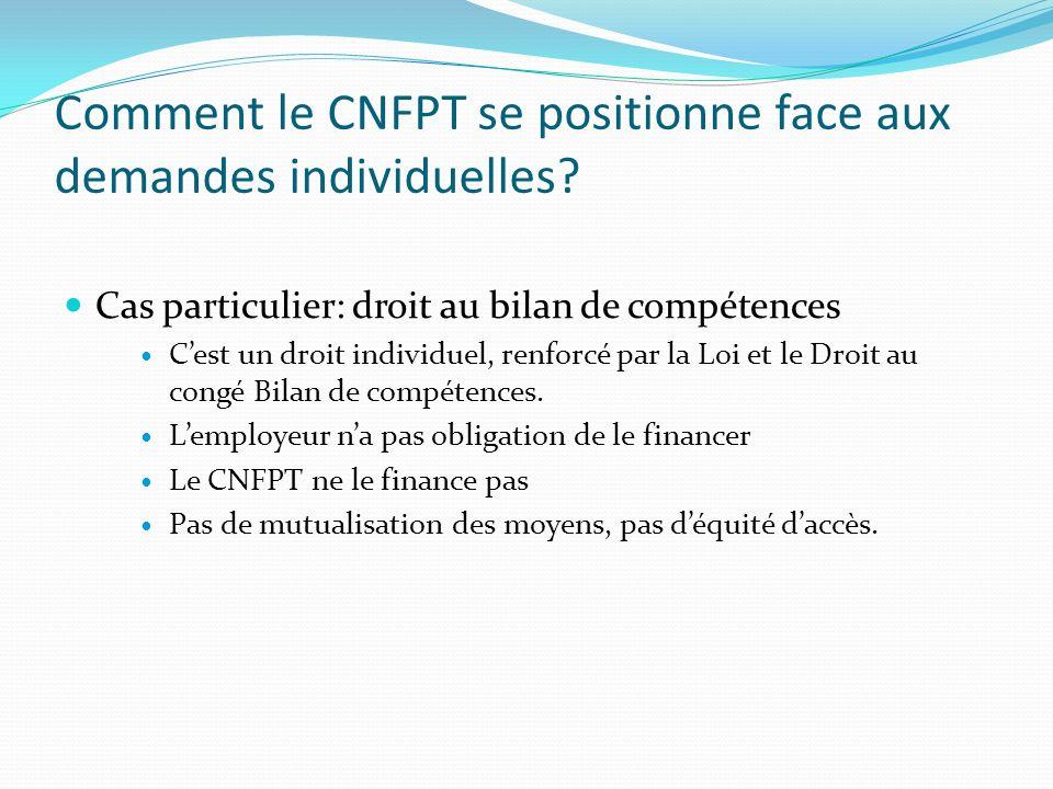 Comment le CNFPT se positionne face aux demandes individuelles