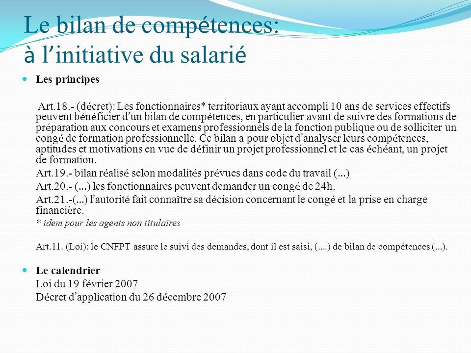 Le bilan de compétences: à l'initiative du salarié