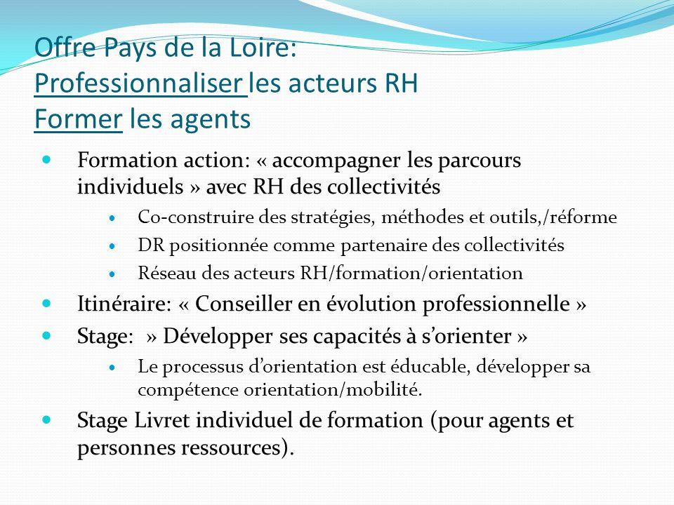 Offre Pays de la Loire: Professionnaliser les acteurs RH Former les agents