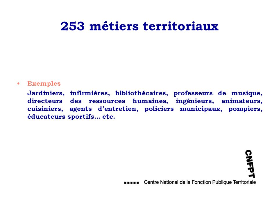 253 métiers territoriaux Exemples