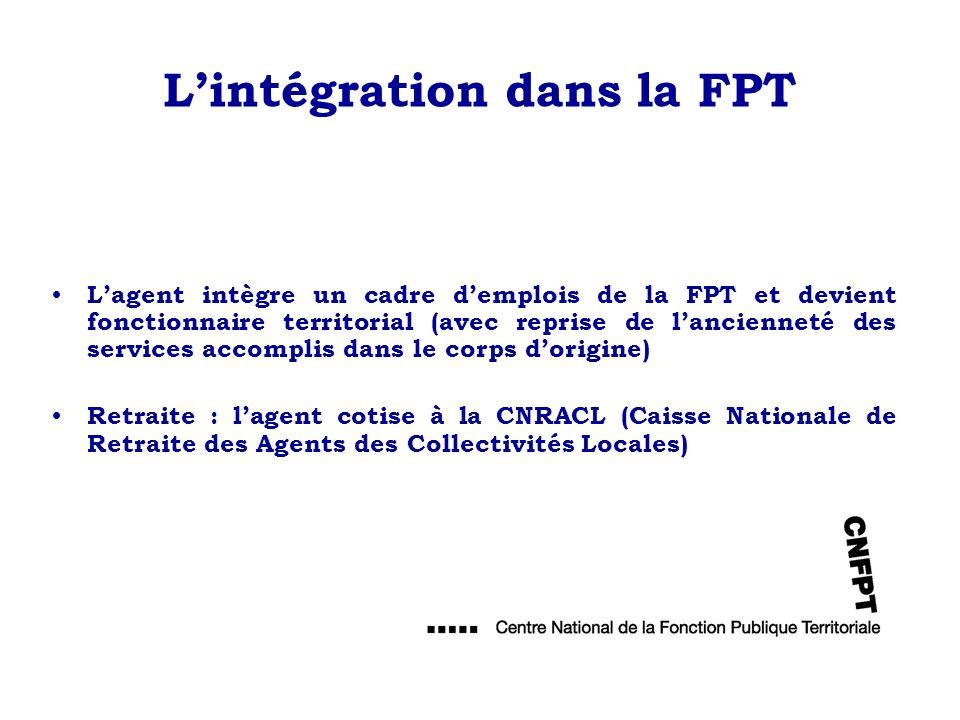 L'intégration dans la FPT