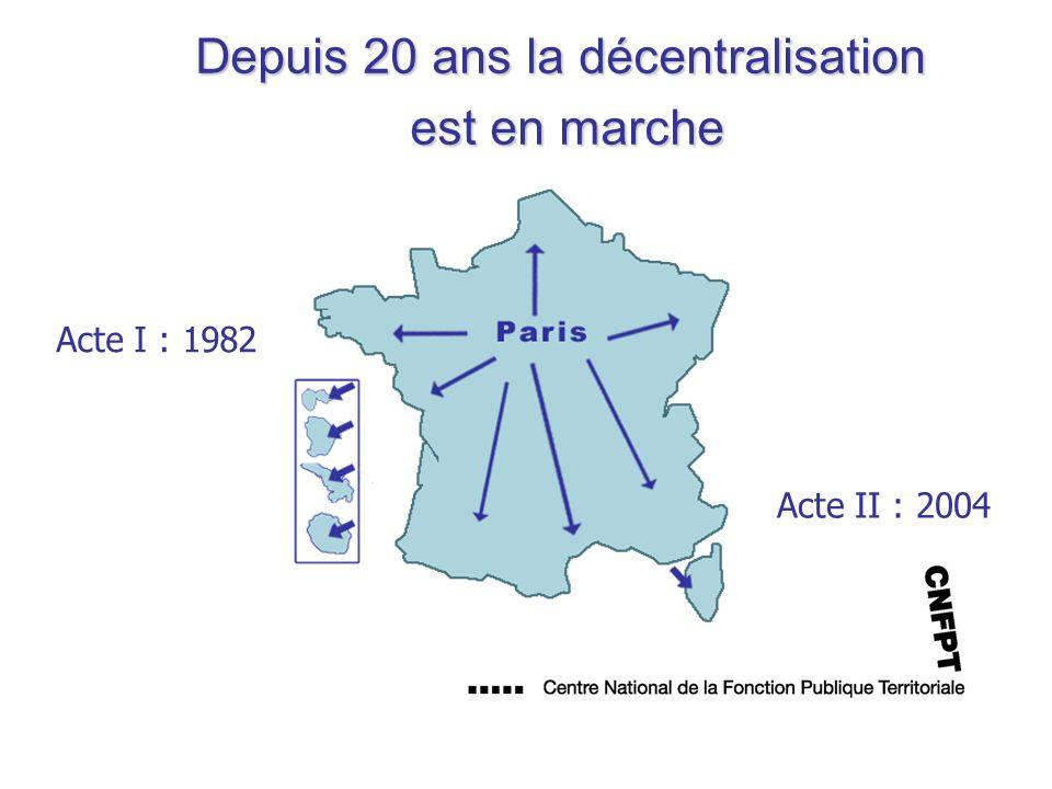 Depuis 20 ans la décentralisation est en marche
