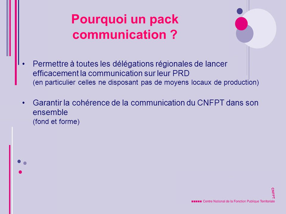 Pourquoi un pack communication