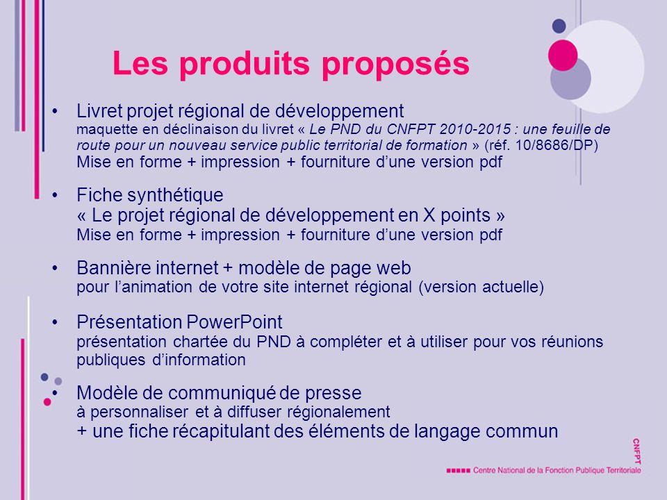 Les produits proposés