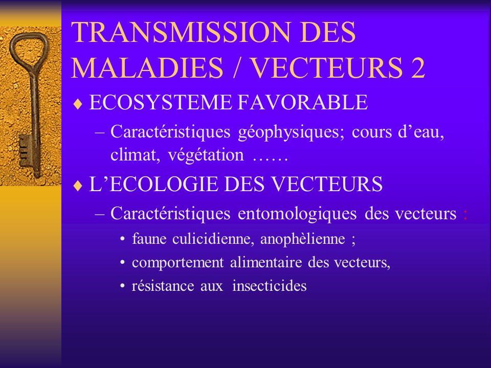 TRANSMISSION DES MALADIES / VECTEURS 2