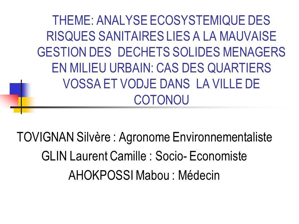 TOVIGNAN Silvère : Agronome Environnementaliste