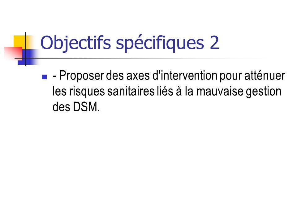 Objectifs spécifiques 2