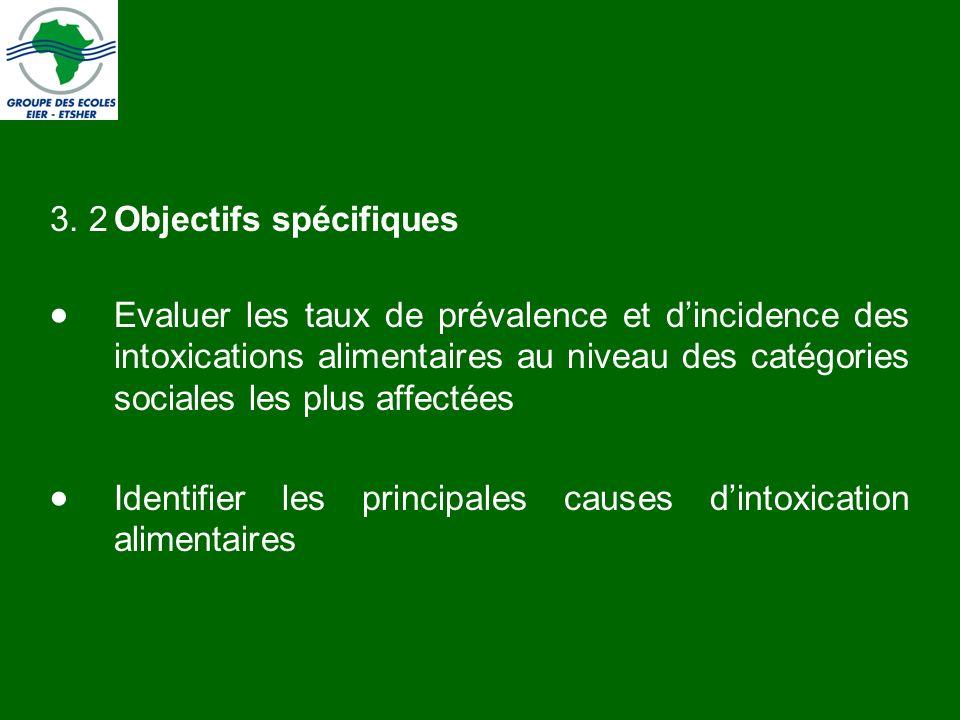 3. 2 Objectifs spécifiques