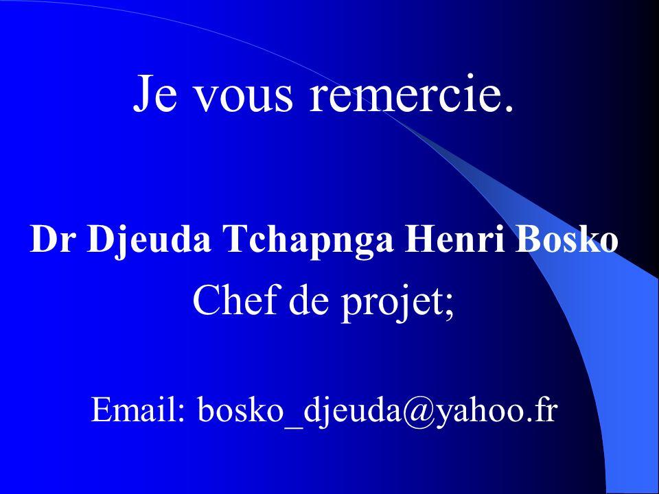 Dr Djeuda Tchapnga Henri Bosko