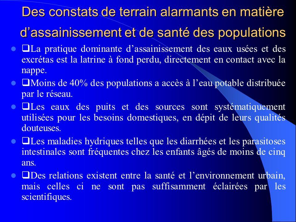 Des constats de terrain alarmants en matière d'assainissement et de santé des populations