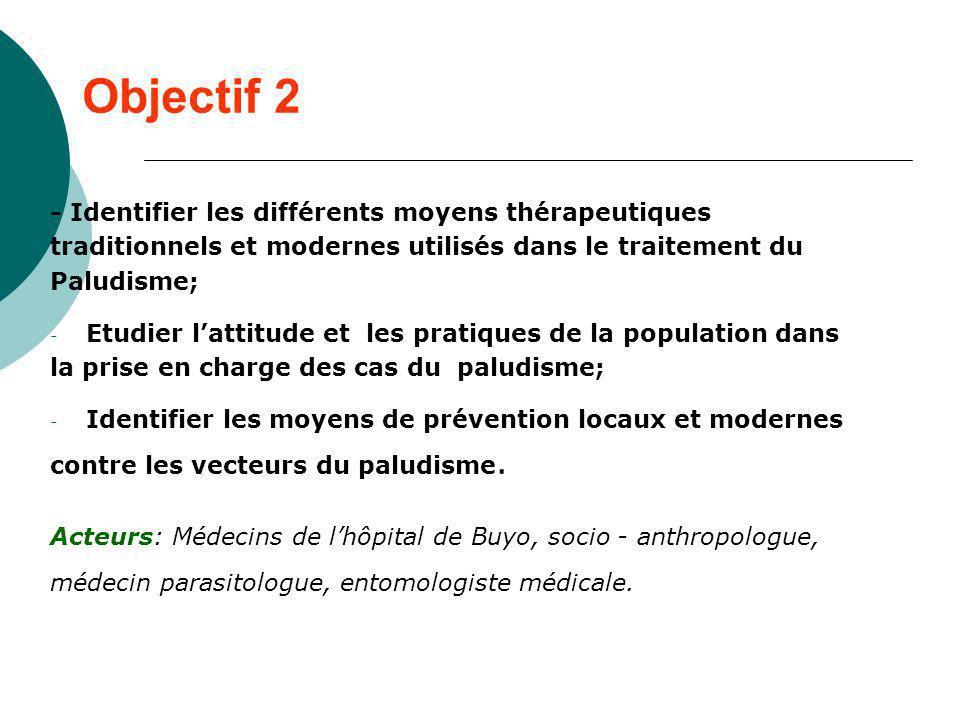 Objectif 2 - Identifier les différents moyens thérapeutiques