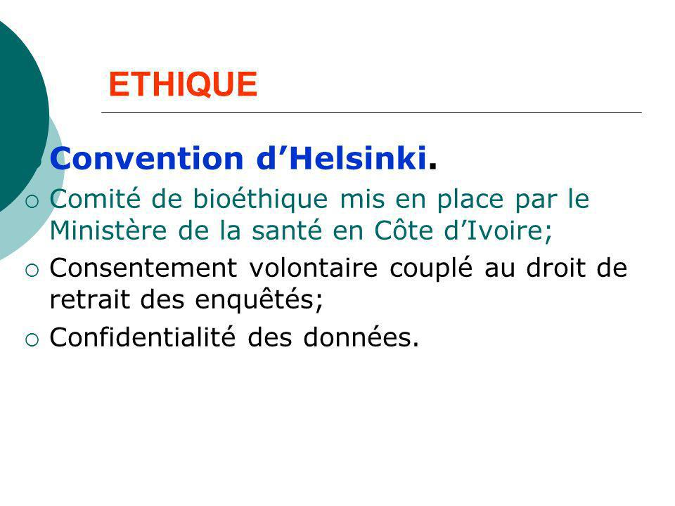 ETHIQUE Convention d'Helsinki.