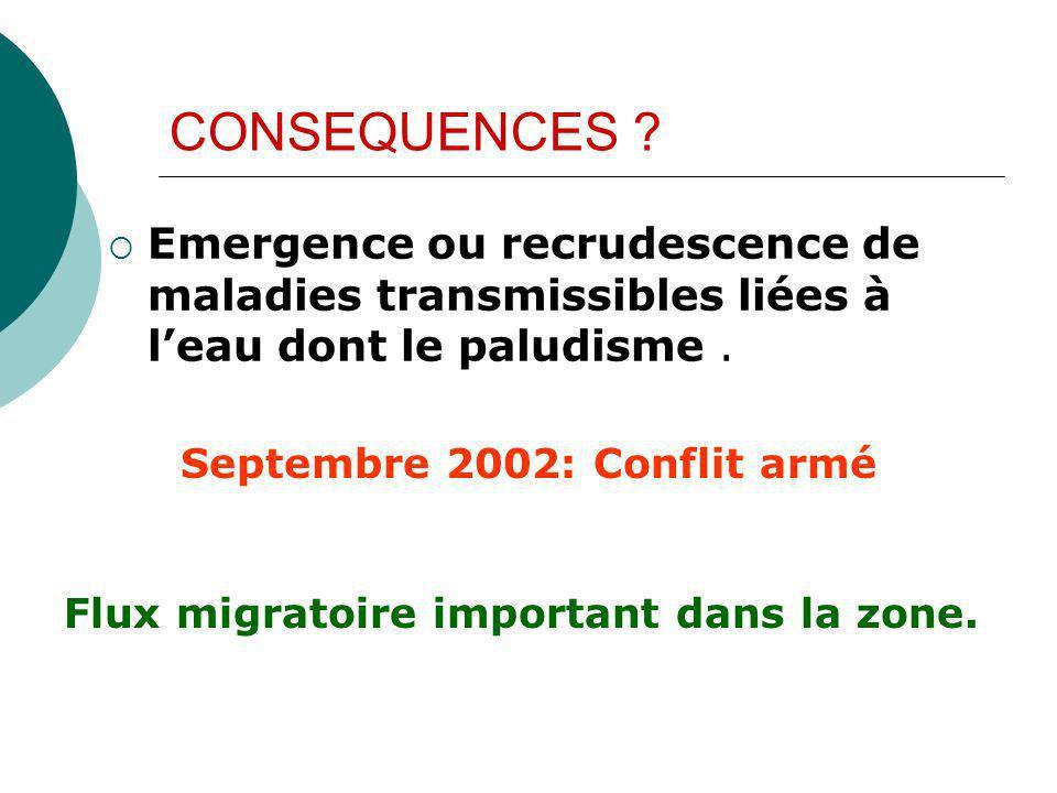 Septembre 2002: Conflit armé