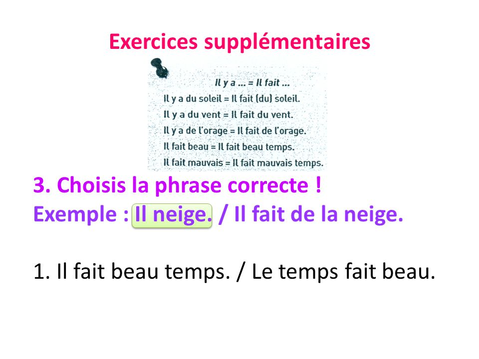 Exercices supplémentaires