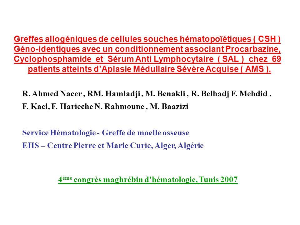 Greffes allogéniques de cellules souches hématopoïétiques ( CSH )