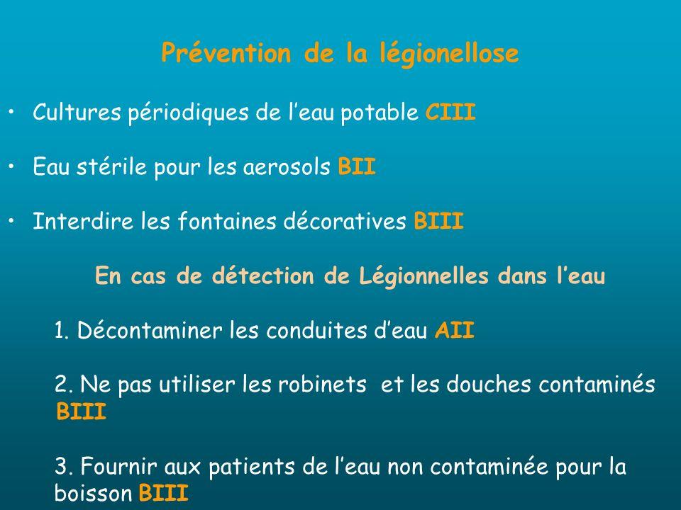 Prévention de la légionellose