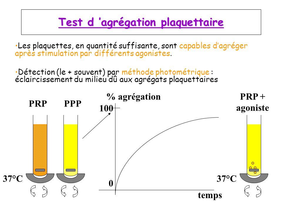 Test d 'agrégation plaquettaire