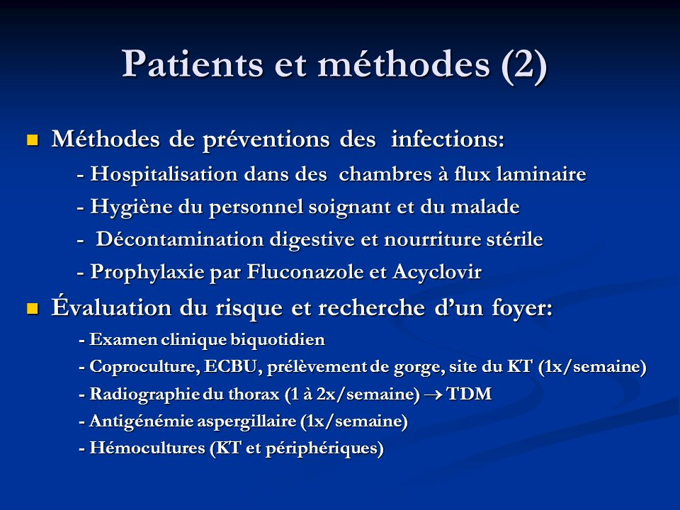 Patients et méthodes (2)