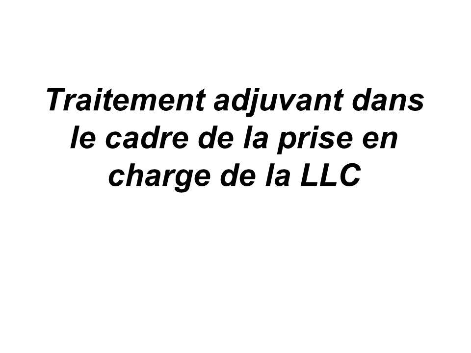 Traitement adjuvant dans le cadre de la prise en charge de la LLC