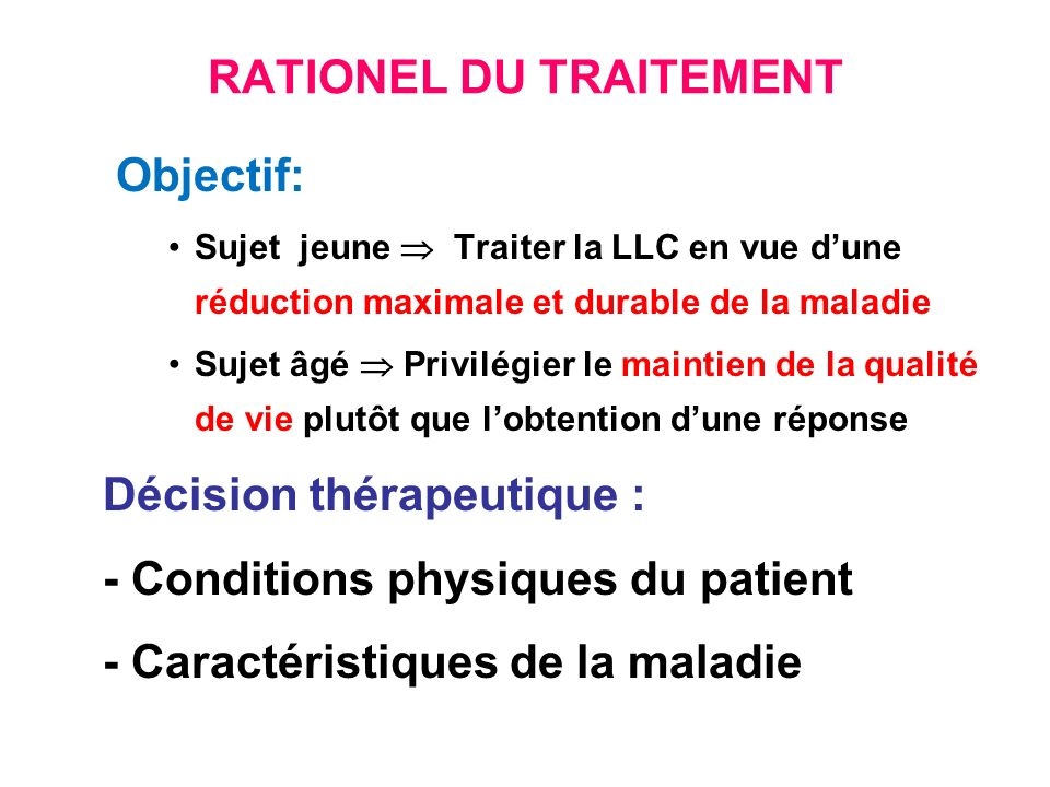 RATIONEL DU TRAITEMENT