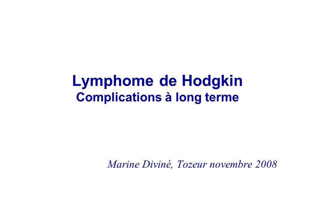 Lymphome de Hodgkin Complications à long terme