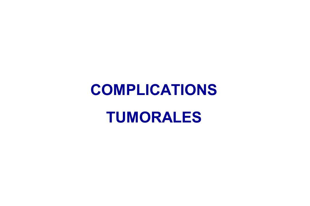 COMPLICATIONS TUMORALES