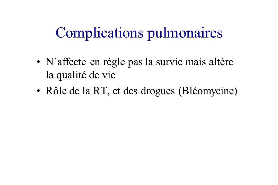 Complications pulmonaires