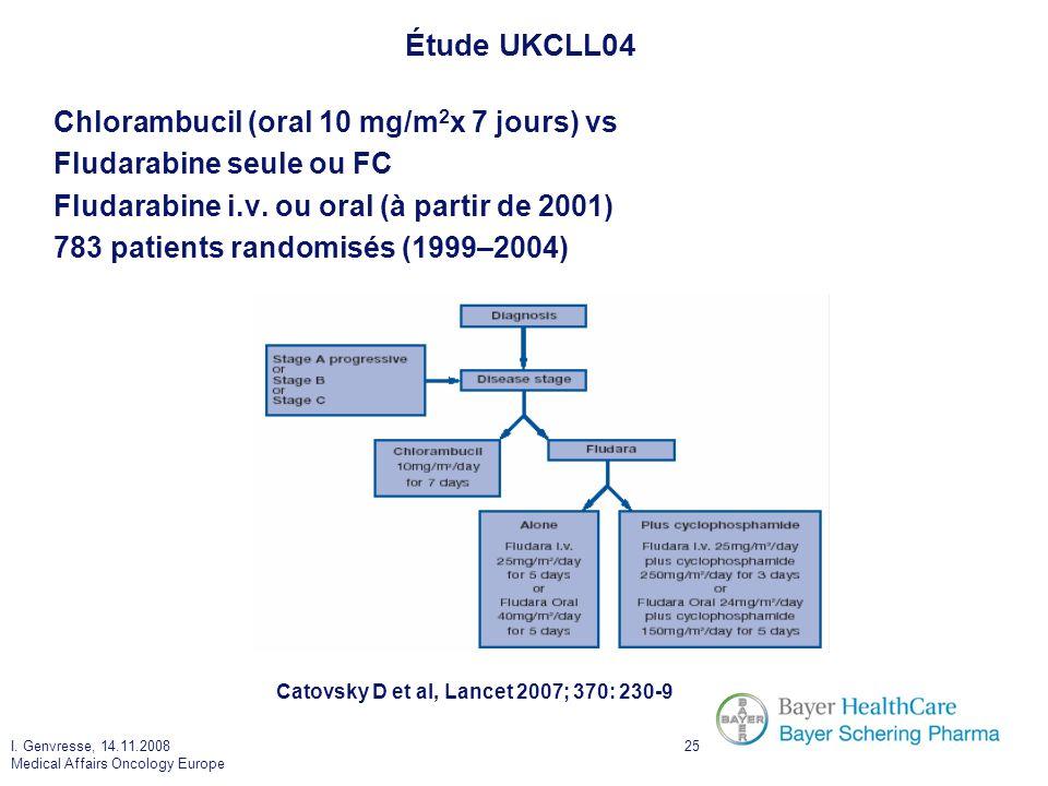 Étude UKCLL04 Chlorambucil (oral 10 mg/m2x 7 jours) vs