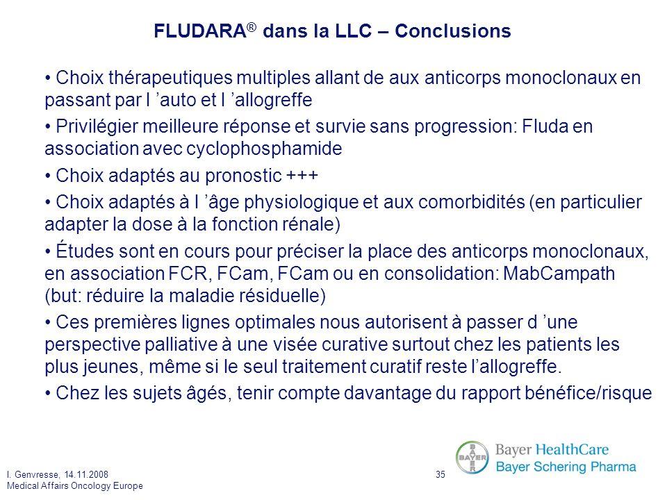 FLUDARA® dans la LLC – Conclusions