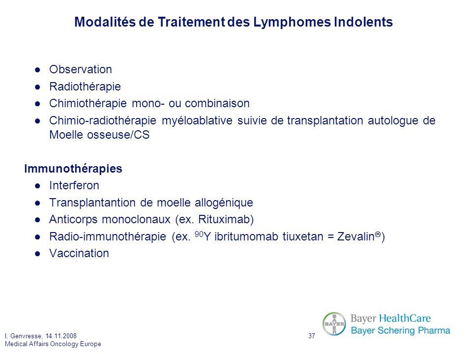 Modalités de Traitement des Lymphomes Indolents