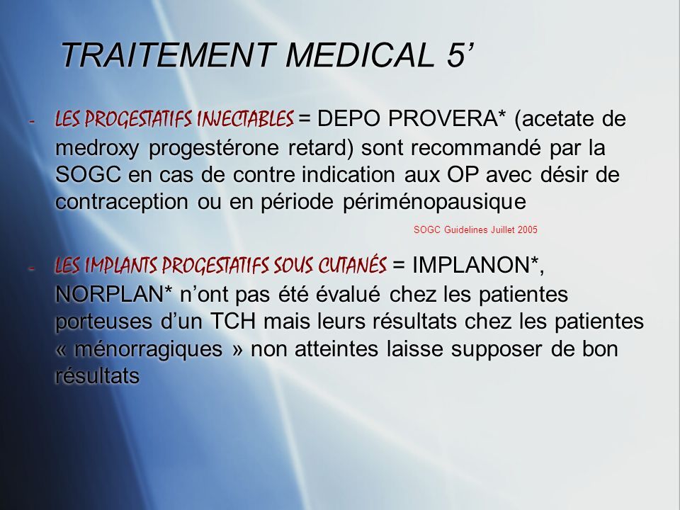 TRAITEMENT MEDICAL 5'
