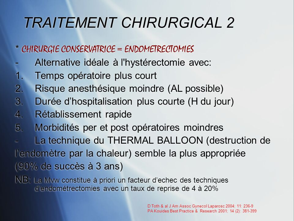 TRAITEMENT CHIRURGICAL 2