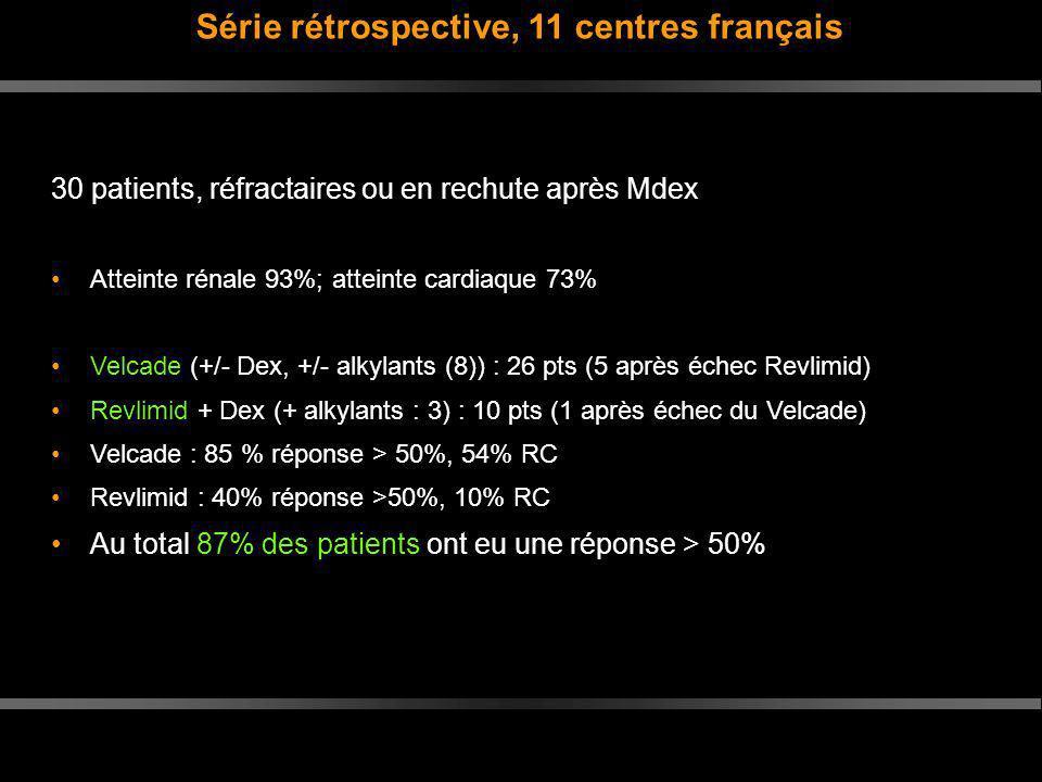 Série rétrospective, 11 centres français