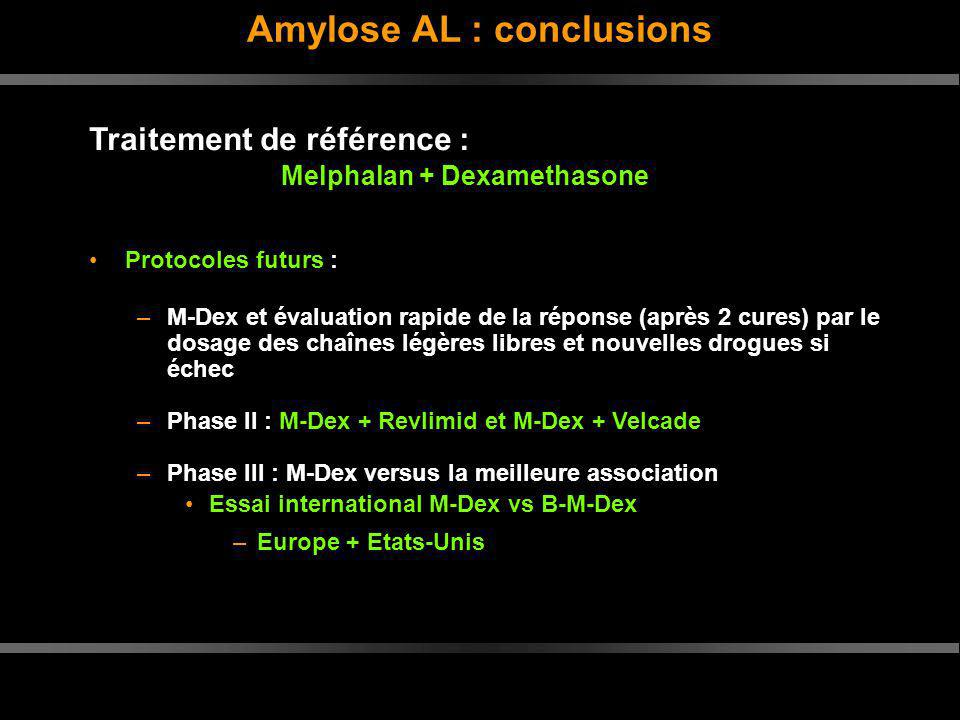 Amylose AL : conclusions