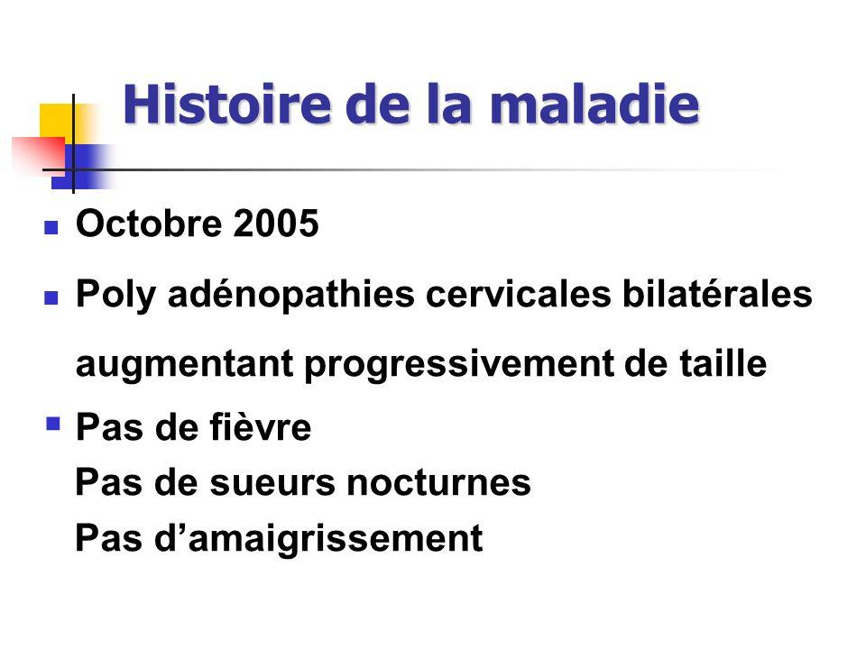 Histoire de la maladie Octobre 2005