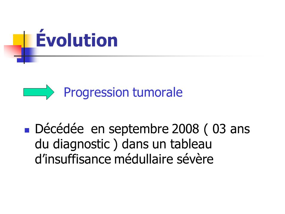 Évolution Progression tumorale