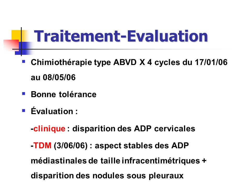 Traitement-Evaluation