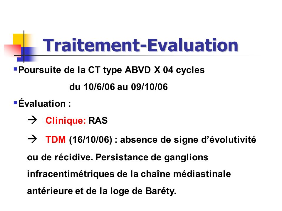Traitement-Evaluation