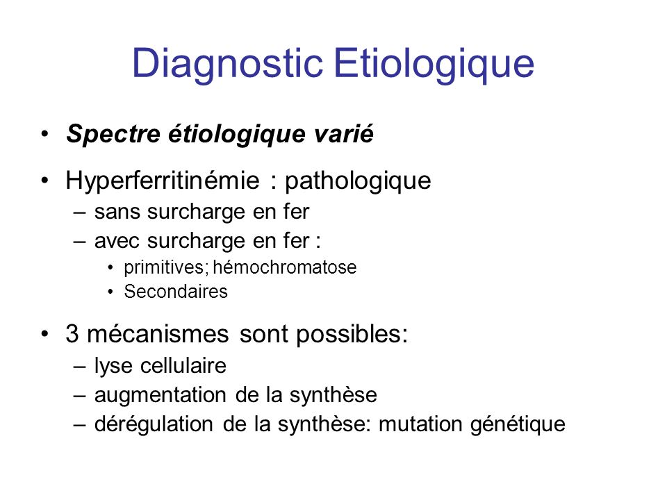 Diagnostic Etiologique
