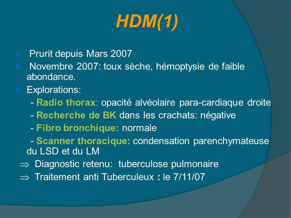 HDM(1) Prurit depuis Mars 2007