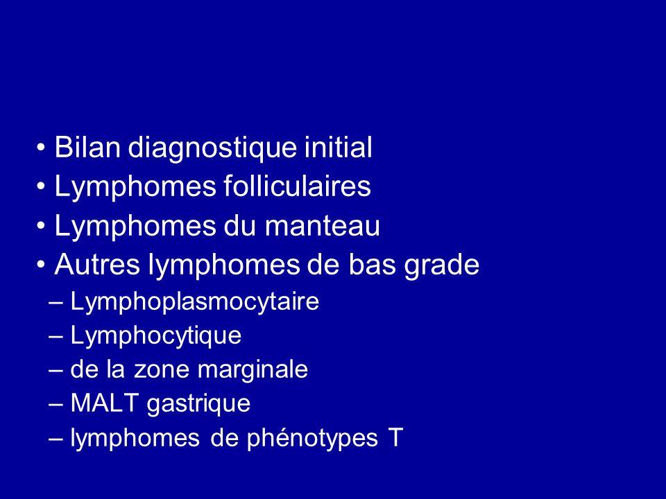 Bilan diagnostique initial Lymphomes folliculaires