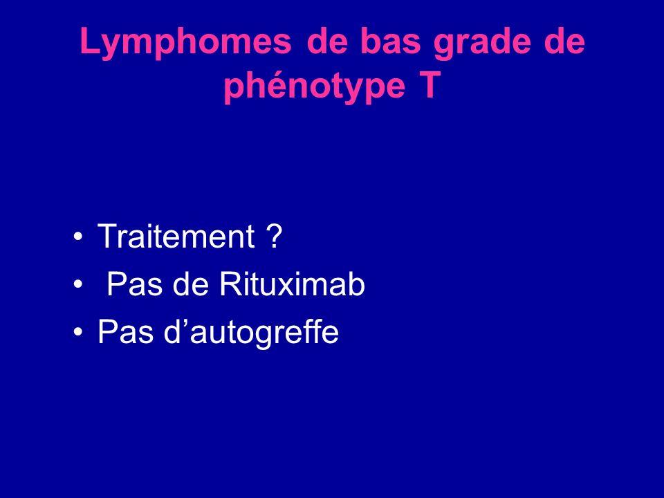 Lymphomes de bas grade de phénotype T