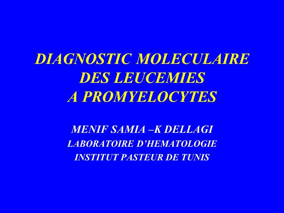 DIAGNOSTIC MOLECULAIRE DES LEUCEMIES A PROMYELOCYTES