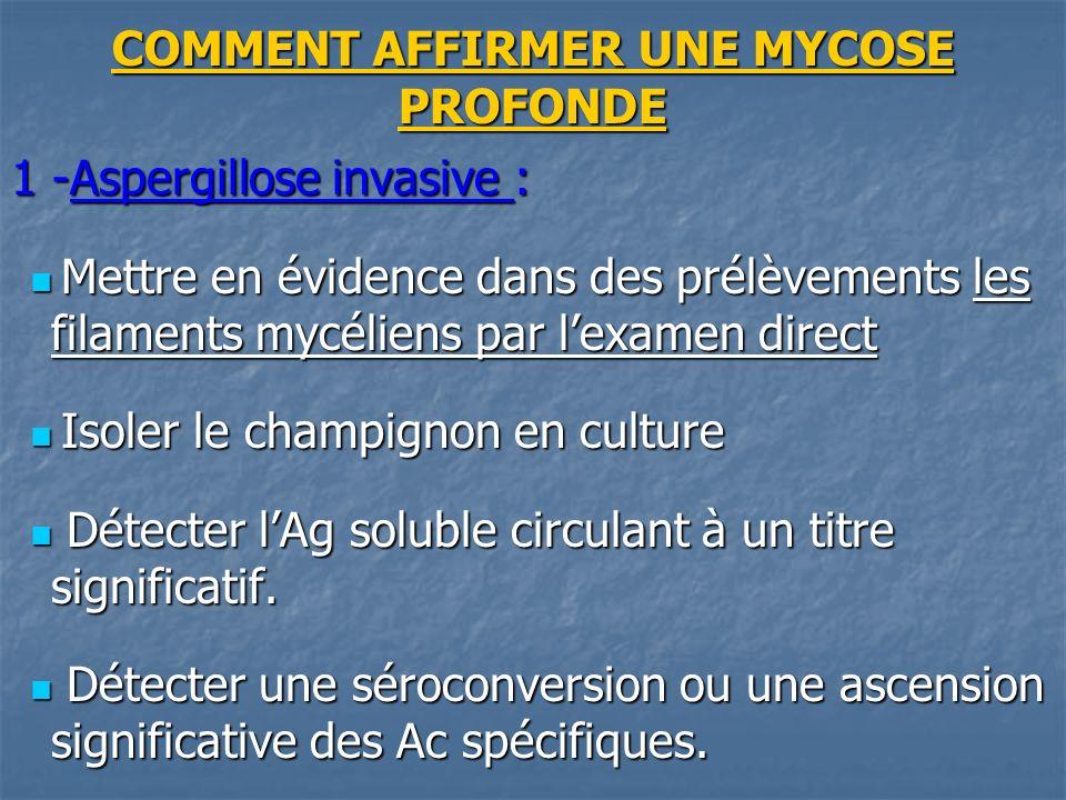 COMMENT AFFIRMER UNE MYCOSE PROFONDE
