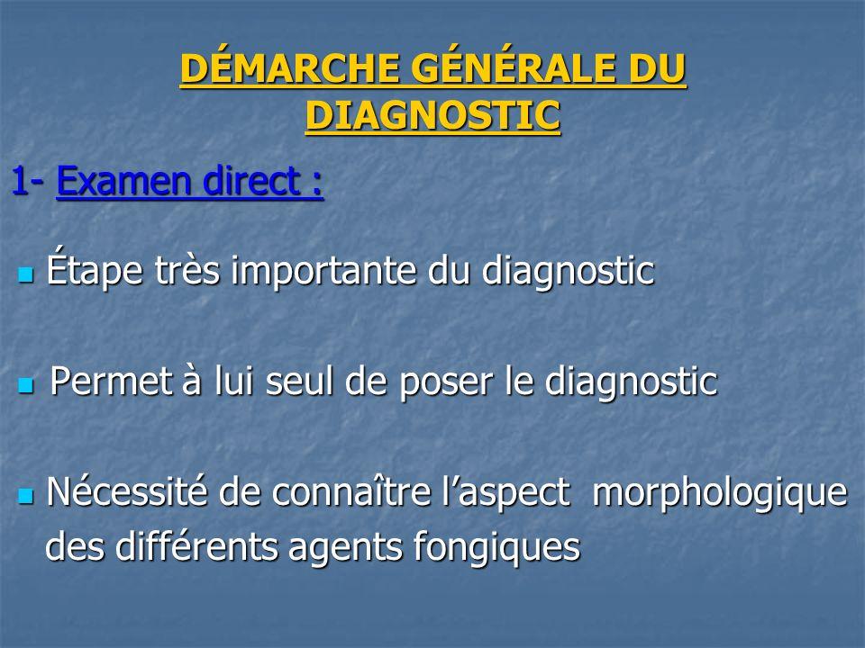 DÉMARCHE GÉNÉRALE DU DIAGNOSTIC