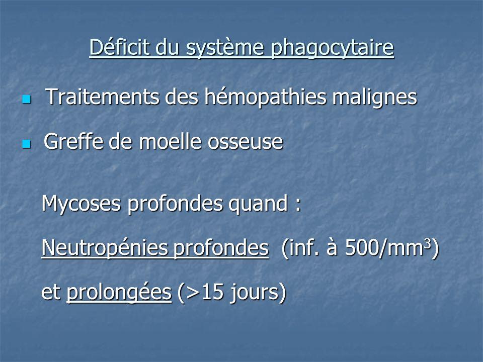 Déficit du système phagocytaire