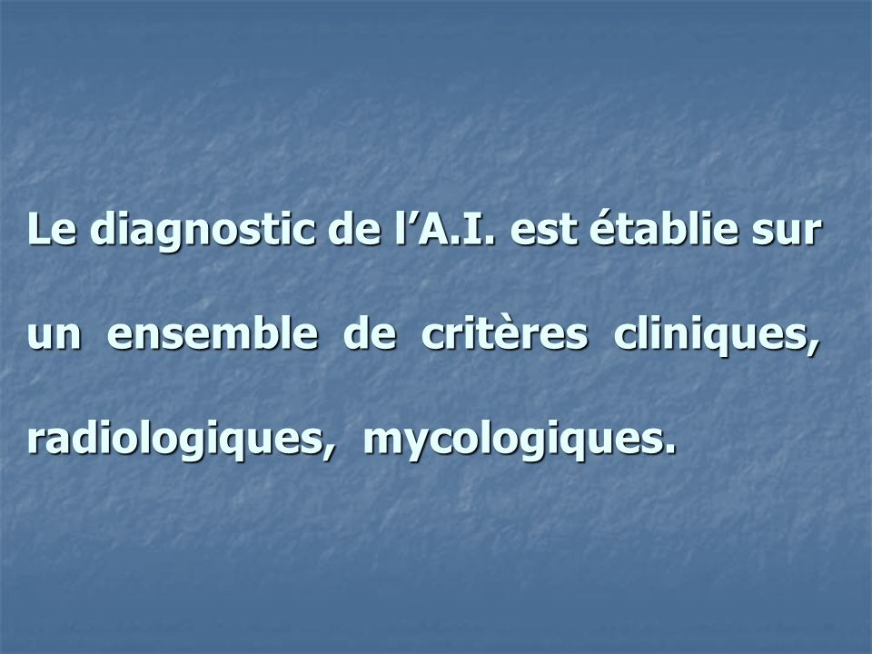 Le diagnostic de l'A.I.