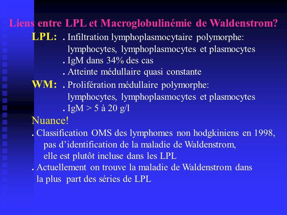 Liens entre LPL et Macroglobulinémie de Waldenstrom