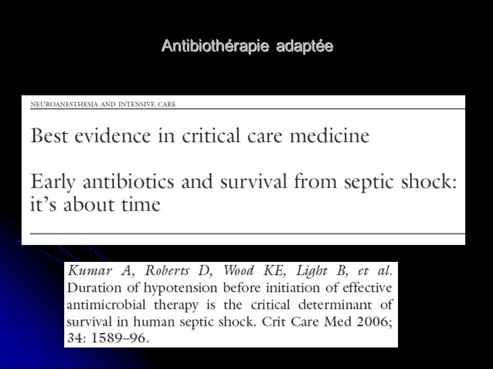 Antibiothérapie adaptée